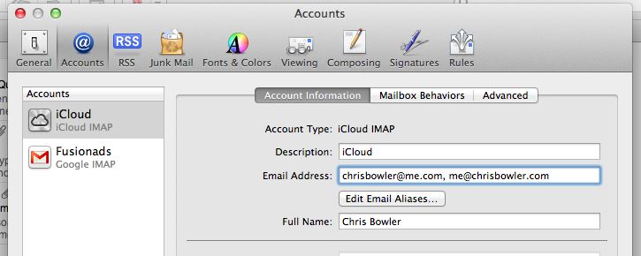 how to change icloud emails
