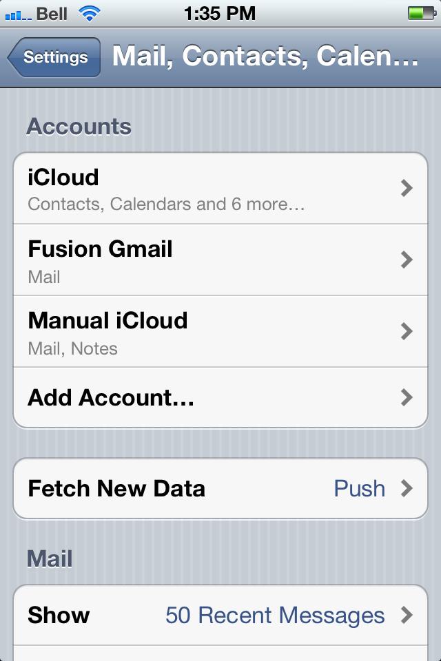icloud.com email account settings